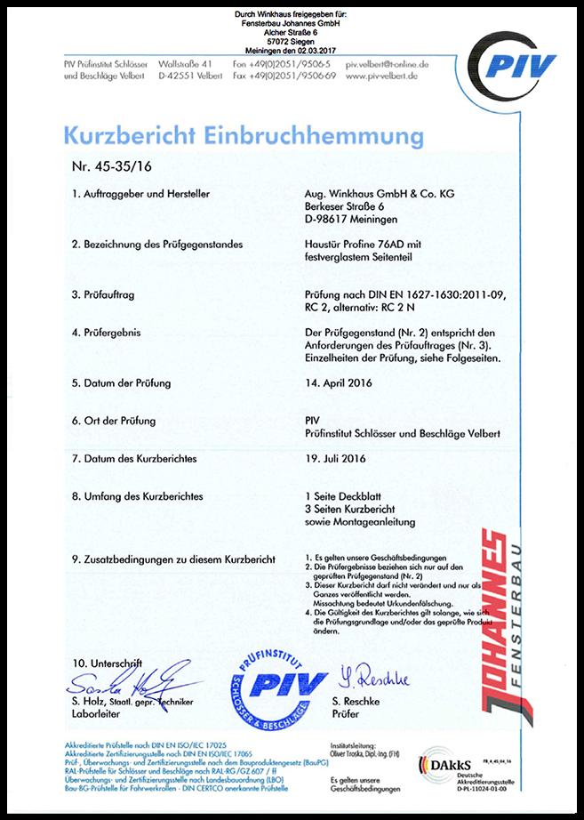 Zertifikat RC2
